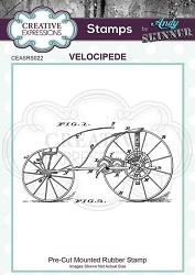 Creative Expressions - Andy Skinner Velocipede Cling Stamp