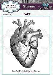 Creative Expressions - Andy Skinner Heart Cling Stamp
