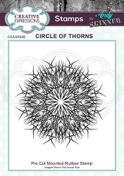 Creative Expressions - Andy Skinner Circle of Thorns Cling Stamp