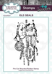 Creative Expressions - Andy Skinner Old Seals Cling Stamp