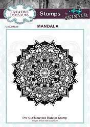 Creative Expressions - Andy Skinner Mandala Cling Stamp