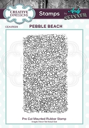 Creative Expressions - Andy Skinner Pebble Beach Cling Stamp
