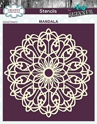 Creative Expressions - Andy Skinner Mandala Stencil (6x6)