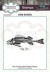 Creative Expressions - Andy Skinner Dem Bones Cling Stamp