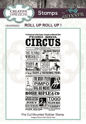 Creative Expressions - Andy Skinner Roll Up Roll Up Cling Stamp