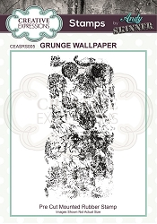 Creative Expressions - Andy Skinner Grunge Wallpaper Cling Stamp