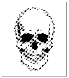 Creative Expressions - Andy Skinner Half Tone Skull Stencil (7x7)