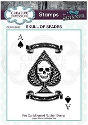 Creative Expressions - Andy Skinner Skull of Spades Cling Stamp