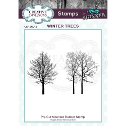 Creative Expressions - Andy Skinner Winter Trees Cling Stamp