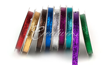 3/8 inch Wired Metallic Ribbon