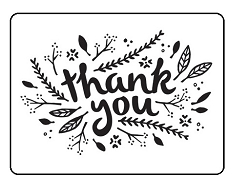 Darice Embossing Folder - (A2 Size) - Thank You Leaves