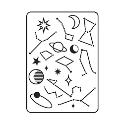 Darice Embossing Folder - (A2 Size) - Planet Pattern