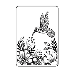 Darice Embossing Folder - (A2 Size) - Hummingbird