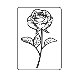 Darice Embossing Folder - (A2 Size) - Single Rose