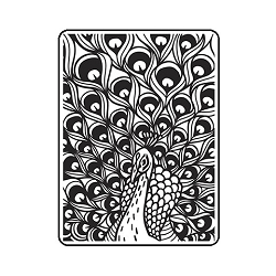 Darice Embossing Folder - (A2 Size) - Peacock