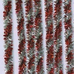 Darice-8mm Chenille Stems-Tinsel Twist Red/Silver