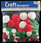 Darice-Big Value Assortment Pom Poms-Christmas
