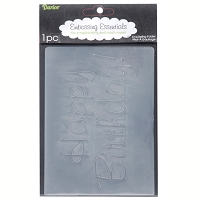 Darice-Embossing Folder- (Size A2) - Happy Birthday