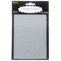 Darice-Embossing Folder- (Size A2) - Texting Acronyms