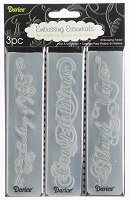 Darice-Embossing Folder- (Set of 3) - Phrases