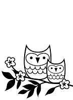Darice Embossing Folder (Size A2) - Owls On Twig
