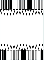 Darice Embossing Folder (Size A2) - Pencil Border
