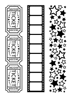 Darice Embossing Folder - Set of 3 - Movie Borders