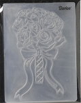 Darice Embossing Folder - Rose Bouquet( size A2)