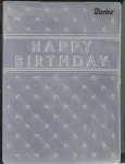 Darice Embossing Folder - Happy Birthday (size A2)