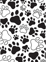 Darice Embossing Folder - (A2 size) -  Paw Print