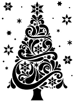 Darice Embossing Folder - Size A2 - Christmas Tree