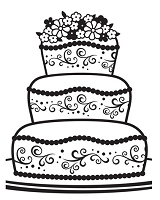 Darice Embossing Folder - (A2 size) -  Fancy Cake