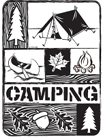 Darice Embossing Folder - (A2 size) -  Camping