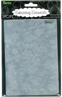 Darice Embossing Folder - Snowflake Background (5x7)