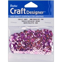 Darice - Sequins - 5mm - Pink (approx. 800 pcs)