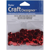Darice - Sequins - 8mm - Red (approx. 200 pcs)