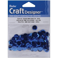 Darice - Sequins - 8mm - Royal Blue (approx. 200 pcs)