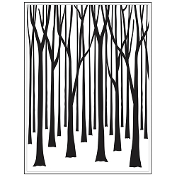Darice Embossing Folder - (A2 Size) - Thin Tree Trunks