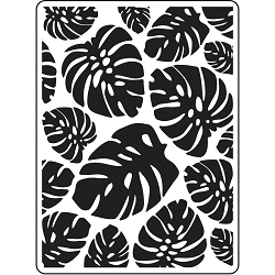 Darice Embossing Folder - (A2 Size) - Tropical Leaf Background