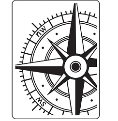 Darice Embossing Folder - (A2 Size) - Compass