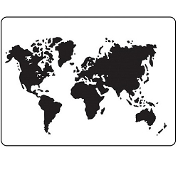 Darice Embossing Folder - (A2 Size) - World Map