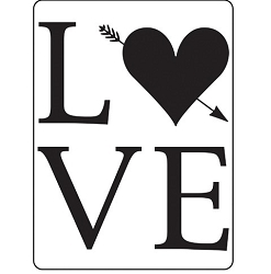 Darice Embossing Folder - (A2 Size) - LOVE