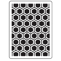 Darice Embossing Folder - (A2 Size) - Honeycomb