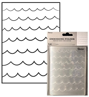 Darice Embossing Folder - (A2 Size) - Waves