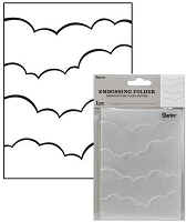 Darice Embossing Folder - (A2 Size) - Clouds