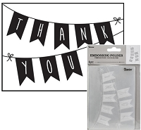 Darice Embossing Folder - (A2 Size) - Thank You Banner