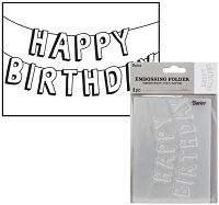 Darice Embossing Folder - (A2 Size) - Happy Birthday Banners