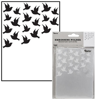 Darice Embossing Folder - (A2 Size) - Birds