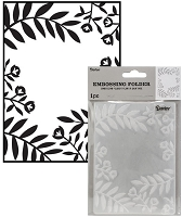 Darice Embossing Folder - (A2 Size) - Leaves & Flowers