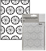 Darice Embossing Folder - (A2 Size) - Lemon